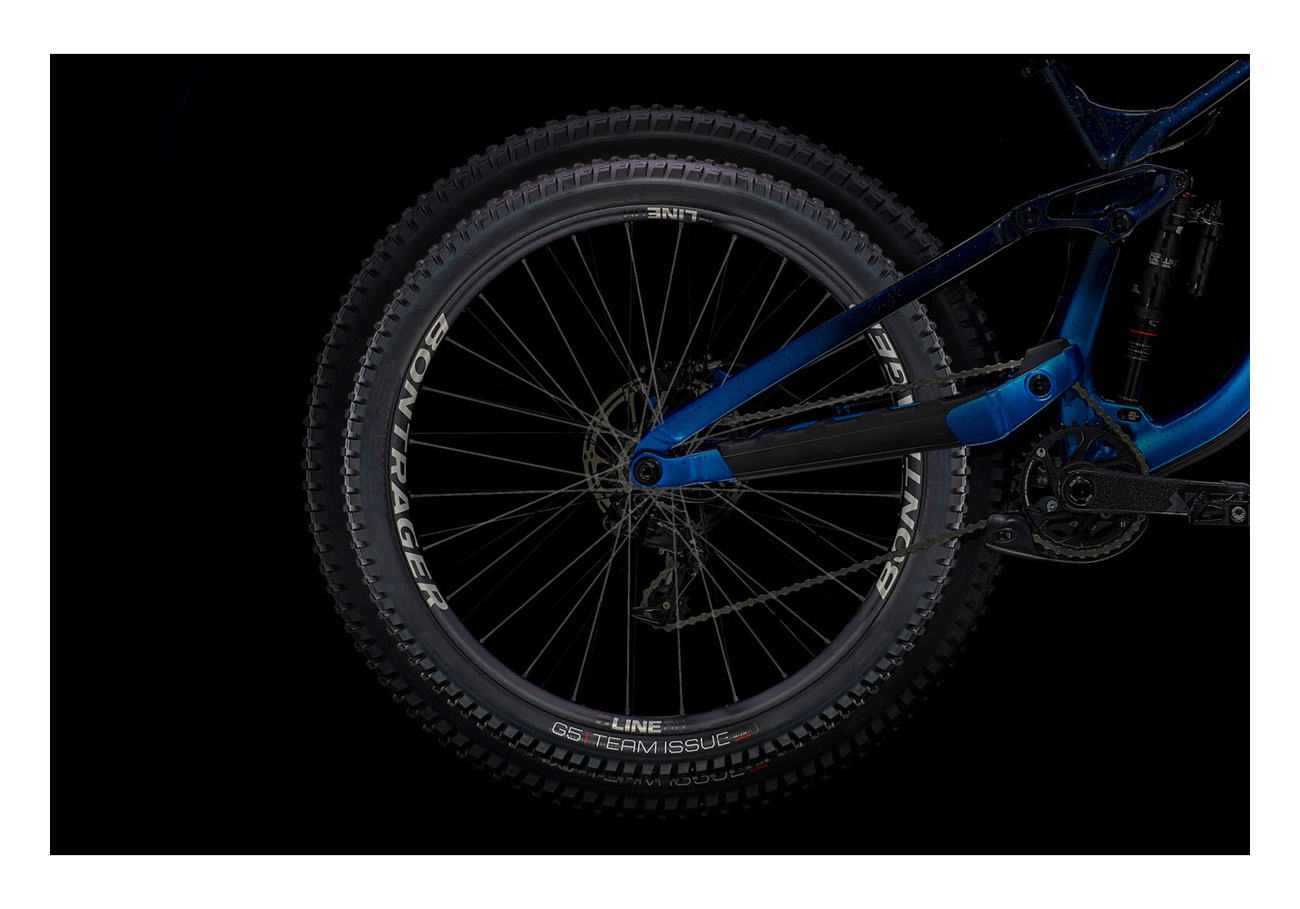 Rueda y cuadro bicicleta
